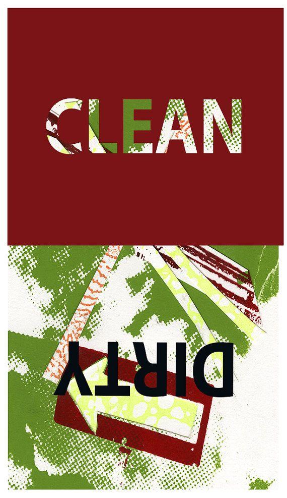 Aimant pour le lave-vaisselle anglais par IsabelleDionne1 sur Etsy