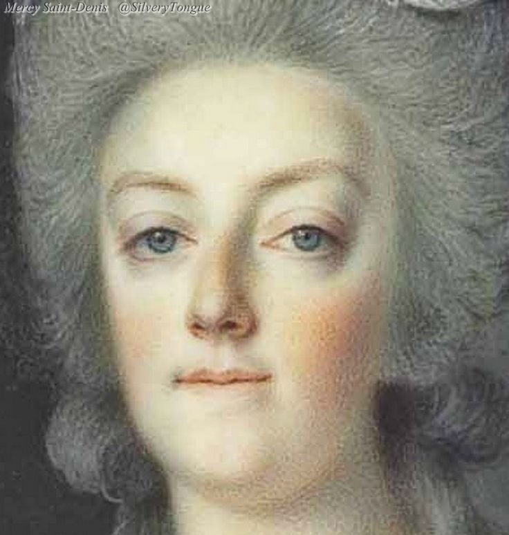 Detail from a portrait of Marie Antoinette.