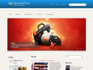 SciencePress is excellent choice for those looking for education WordPress theme. It supports and comes with custom widgets, drop-down menus, javascript slideshow and lots of other useful features. The theme is absolutely free!