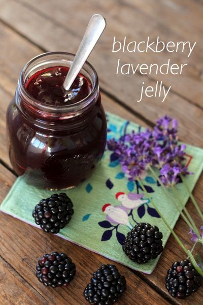 Blackberry Lavender Jelly.  So so delicious and simple to make.