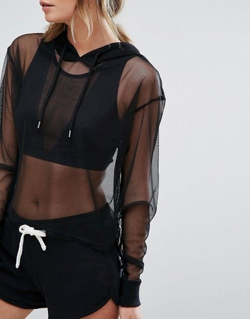 New Look All Over Mesh Hoody Jumper