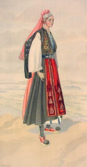#77 - Peasant Woman's Dress (Ionian Islands, Corfu, Lycoursi)