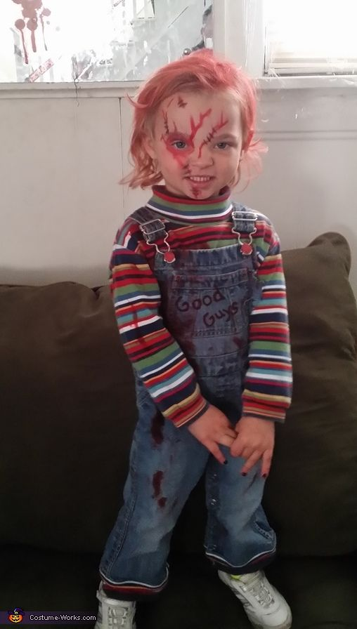 Chucky girl costume boy halloween costumes boys and for Diy halloween costumes for kid boy