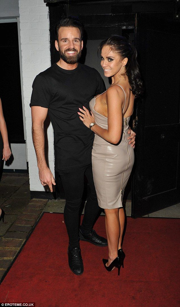 Her main man: Vicky was also seen posing with her boyfriend,Josh Robson...