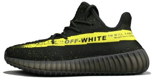 d5ad1e6f Cheap Off-White X adidas Yeezy 350 V2 Yeezy Core Black Yellow ...