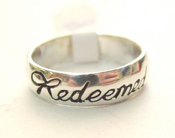 Redeemed ring! Possibly  could use as purity ring
