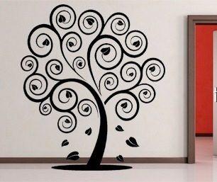 Vinilos decorativos de pared arbol corazones mariposas for Vinilos pared blancos
