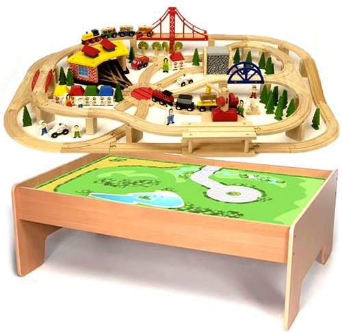 9 best Wooden Train Sets images on Pinterest | Wooden train, Wood ...