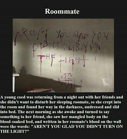 Creepypasta picture-stories #3: Roommate - Horror/creepy short stories