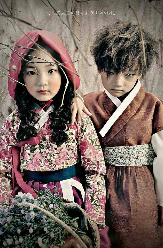 "#Fusion Children hanbok inspired by fairy tale ""Little Red Riding Hood"" #Made by [Bogg Nabi]"