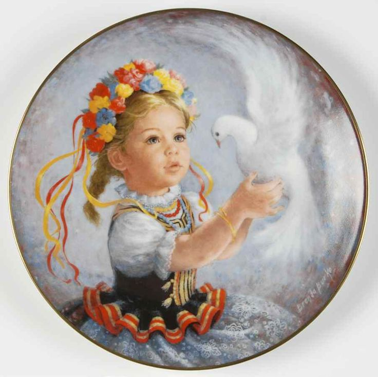Portrait of a little Ukrainian girl and dove ...a message for Peace. . .
