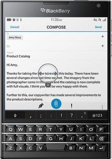 BlackBerry Passport – Touch screen, touch smartphone keyboard - United States
