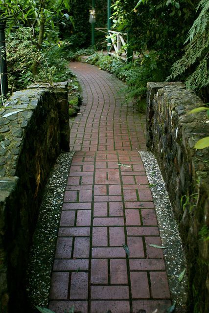 The Red Brick Path By Spider Lily Via Flickr Brick Path
