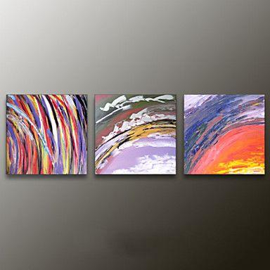 【今だけ☆送料無料】 アートパネル  抽象画3枚で1セット カラフル 虹色 夕日 大気圏【納期】お取り寄せ2~3週間前後で発送予定