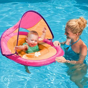 Baby Spring Float with Sun Canopy: Canopy is removable, so this will be perfect for swim days at the YMCA this winter, as well.