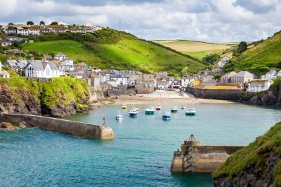 Fishing Village of Port Isaac, on the North Cornwall Coast, England UK