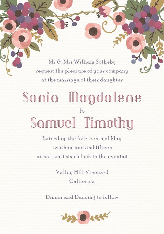 14 best Wedding Invitations images on Pinterest Invitation suite