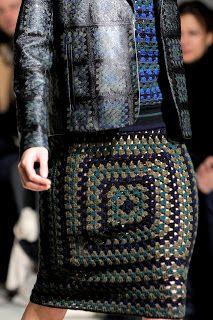 Outstanding Crochet: Christopher Kane FW 2011-12. Granny squares again,...