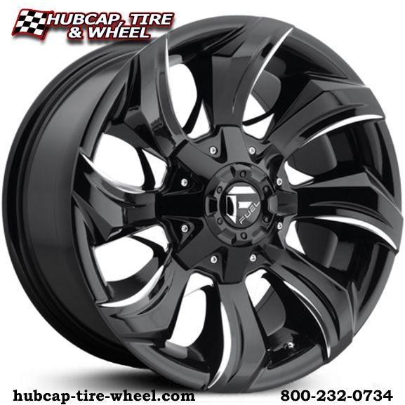 New for 2017! Fuel D571 Strykr gloss black & milled wheels & rims