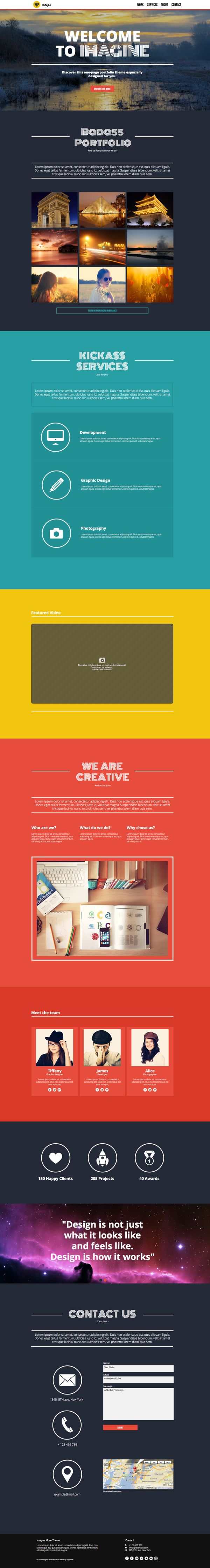 Imagine - One Page Muse Theme by styleWish, via Behance