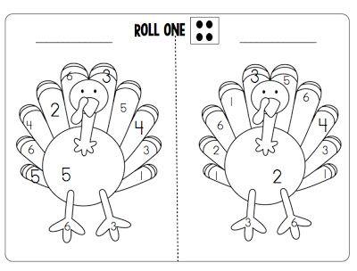 Joyful Learning In KC: Roll Two Dice Turkey & Turkey Poems
