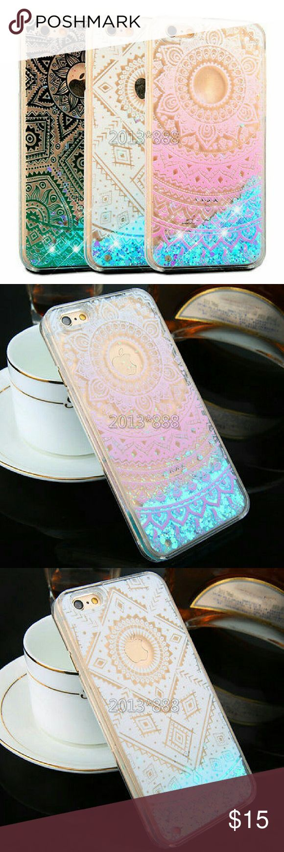 SALE!!Liquid Glitter Quicksand Clear Phone Case Iphone 6s Brand new boutique Accessories Phone Cases