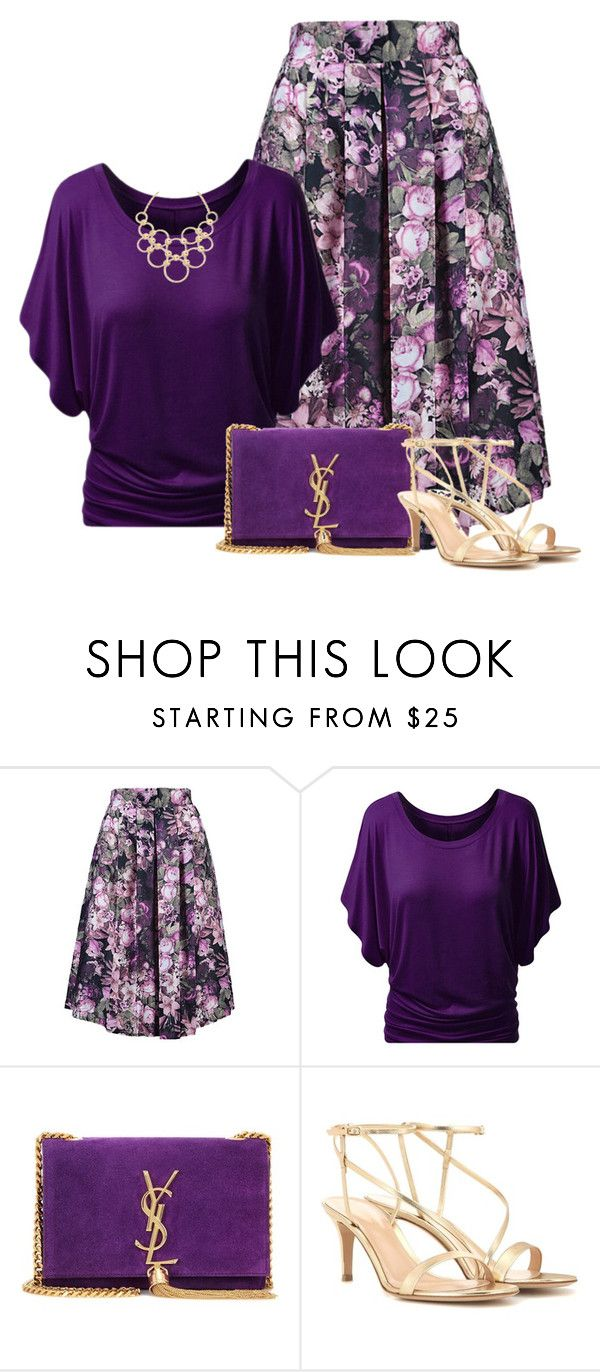 """Untitled #5546"" by barbarapoole ❤ liked on Polyvore featuring Yves Saint Laurent, Gianvito Rossi and Vera Bradley"