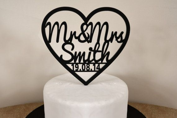 Personalised Heart Shaped Mr & Mrs Custom Made by CapolaOnline