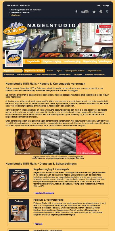 Na een paar maanden zwoegen achter de schermen is het dan zo ver... onze nieuwe website staat online. Ja, het was het hoog tijd voor een nieuwe website, één die toegankelijker is en meer aansluit bij mobiel internetten, tablets, tv etc.  http://nagelstudio.kiki.nl
