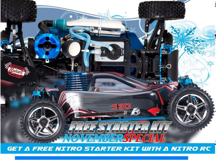 November Promo - Free Starter Kit with the puchase of Any Nitro RC at Amazing RC Store.