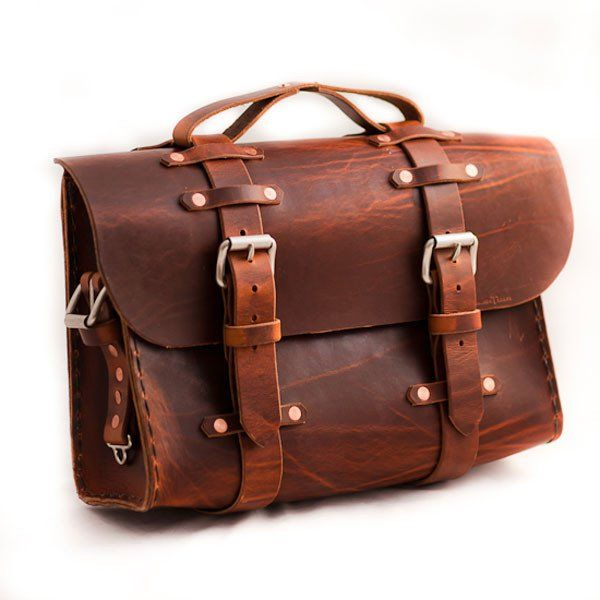 Leather Satchel by Colsen Keane  A beautiful, hand crafted satchel made of leather.