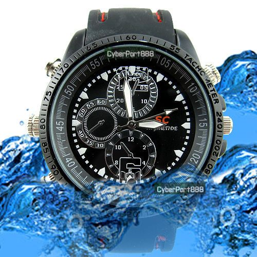 8GB Spy Watch Video Recorder-Hidden Camera DVR Waterproof Camcorder