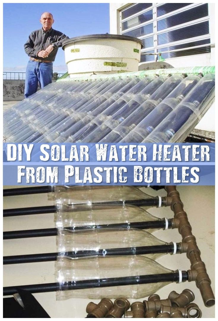 DIY Solar Water Heater Fromo Plastic Bottles - Make a solar water heater from a pile of plastic bottles and cartons. This is great for the environment as it frees up waste trash and if you decide to build one you could use old bottles or what ever you have available.