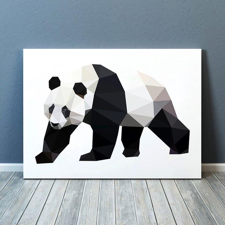Geometric panda poster Bear print Colorful decor Animal art TO341-1 by animalgeometry on Etsy https://www.etsy.com/listing/237014682/geometric-panda-poster-bear-print