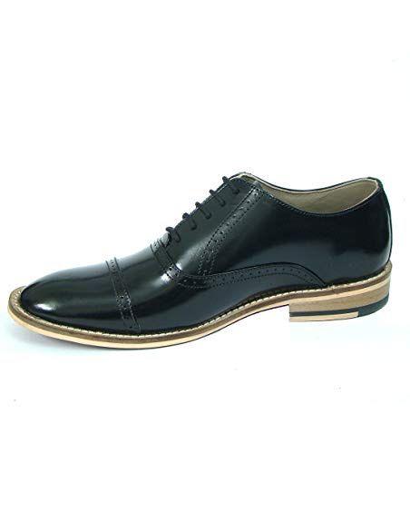 0529077068e ASM Men s Formal Shoes Black Leather 8