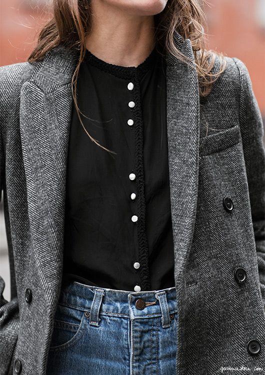 lilli millhiser zara coat details  on crosby street style new york garance dore photos