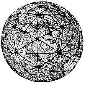 La fleur de vie complète possède une autre utilisation. Si vous superposé une carte (après avoir calculé l'échelle correcte) sur la fleur de vie complète, tous les sites sacrés, les menhirs, se tiendront au centre de six points. Cette image vous donne une idée à quoi ressemble le quadrillage