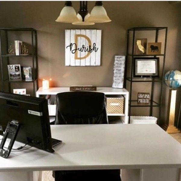 100 Charming Farmhouse Office Decor Ideas For Your Home Home