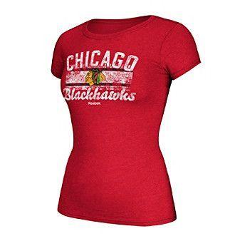 Reebok® NHL® Chicago Blackhawks Women's Flag Fade Tee