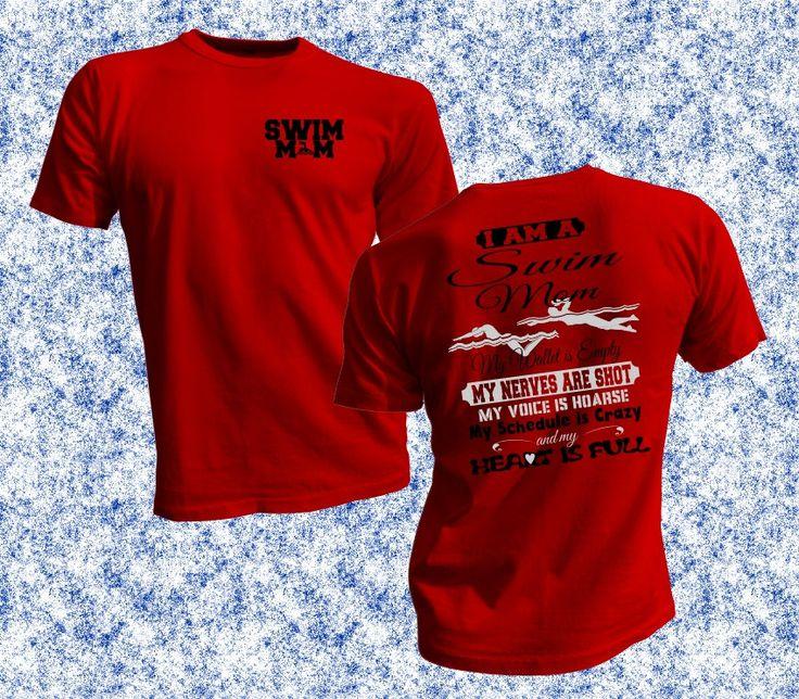 Soy un nadar mamá camiseta nadador mamá Gear por VinylWorks4u