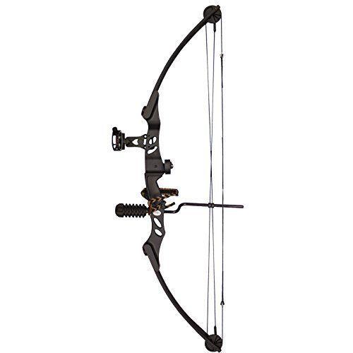 SAS Siege 55 lb Compound Bow w/ 5-Spot Paper Target - Black with Accessories