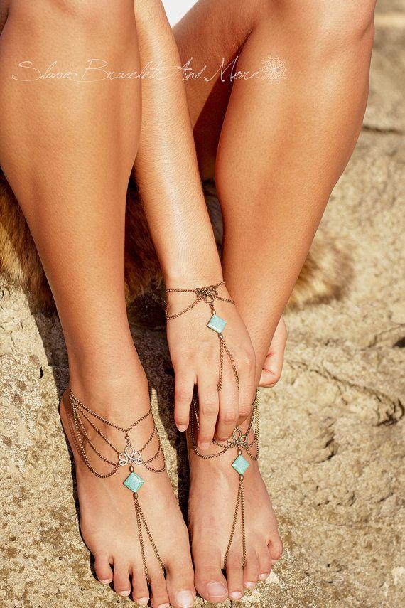 ON SALE 40% OFF anklet foot jewelry by SlaveBraceletAndMore
