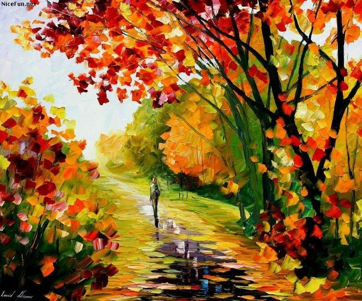 Love The Vibrant Colors And Person Walking Down Path Water Is Done