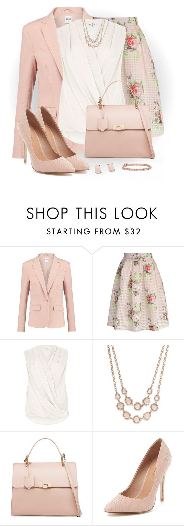 """""""Floral Check Print Skirt"""" by snickersmother ❤ liked on Polyvore featuring Vero Moda, Chicwish, River Island, Kate Spade, Charter Club, Balenciaga and Maiden Lane"""