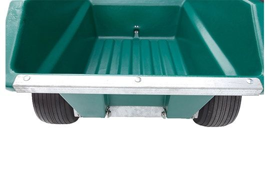 Rear view of ATV trailer  with a 400 litres capacity. Suitable for ATV quad bikes, compact tractors, ride-on lawn mowers and UTVs. For more info contact us at http://www.fresh-group.com/trailers-trolleys-and-carts.html