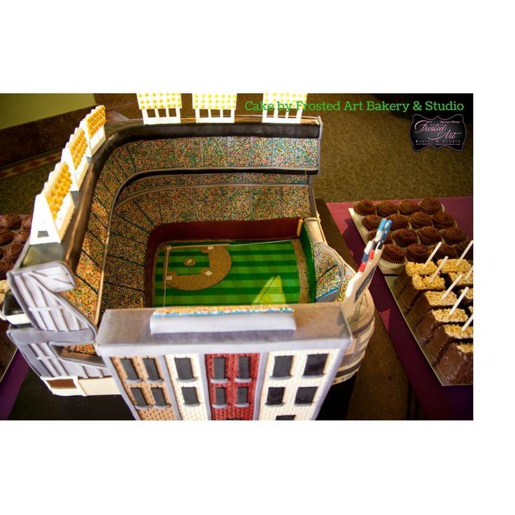 Frosted Art Stadium Cake