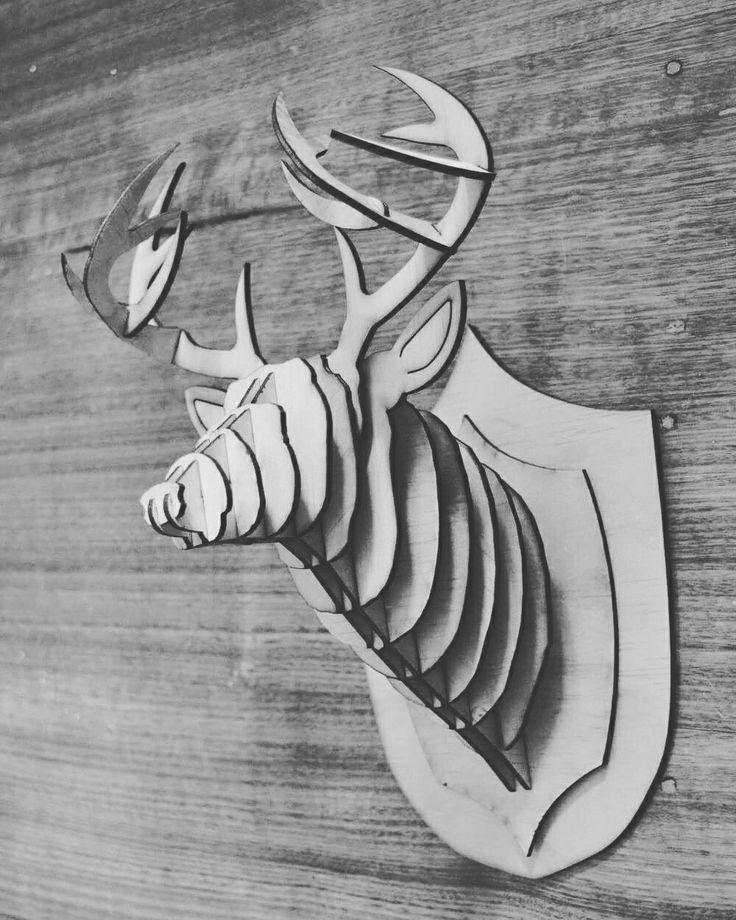 Wooden deer head $30 https://www.facebook.com/sherlockdesigns/ #deer #animals #homedecor #wood #timber #lasercut #lasercutting #mancave #taxidermy