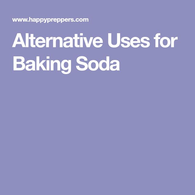 Alternative Uses for Baking Soda