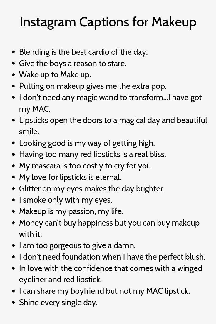 Instagram Captions For Makeup