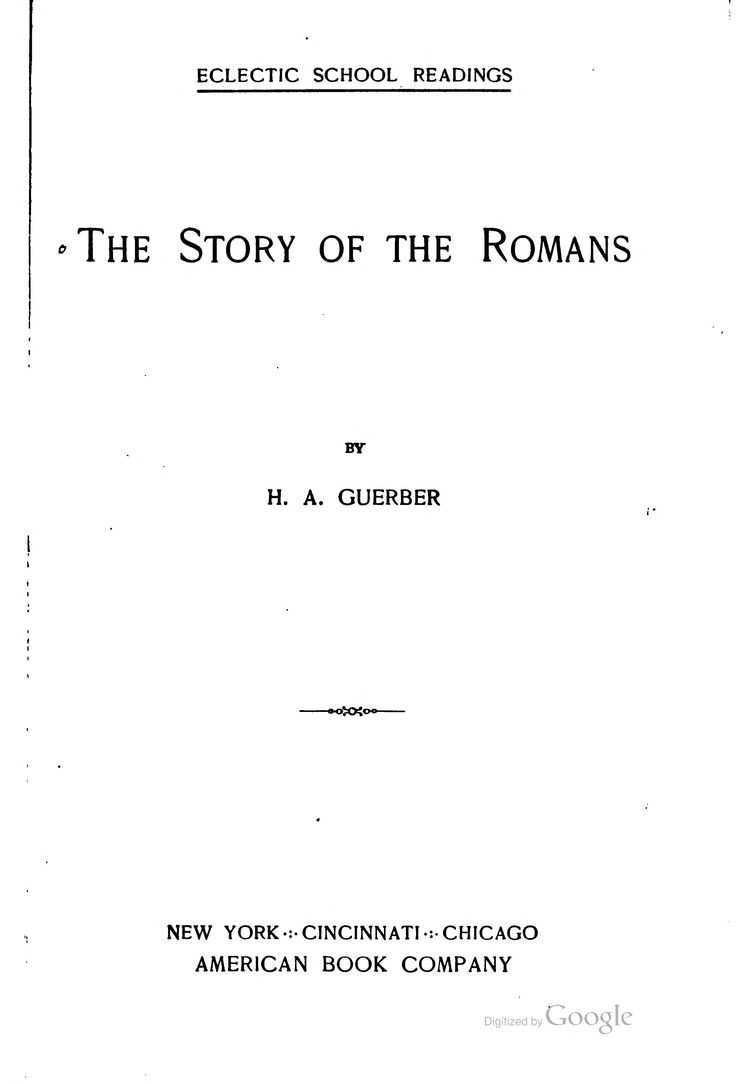 The story of the Romans;online text Roman History 5th grade homeschool Charlotte Mason